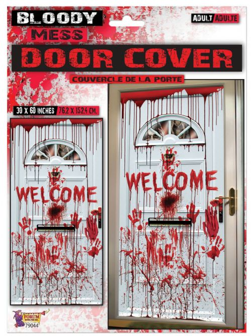 "Bloody ""Welcome"" Door Cover 75x150cm Decoration Haunted Mansion Party Favour"